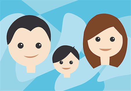 family abstract - Front view of family Stock Photo - Premium Royalty-Free, Code: 645-02153531