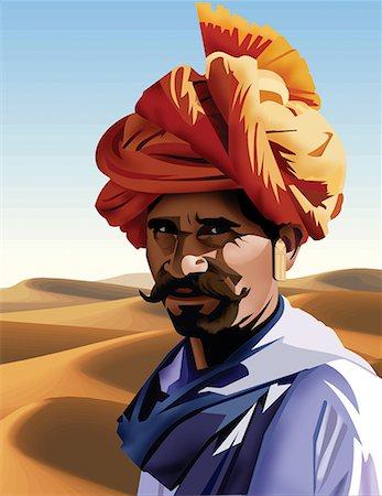 Portrait of a rajasthani man Stock Photo - Premium Royalty-Free, Code: 645-02153586