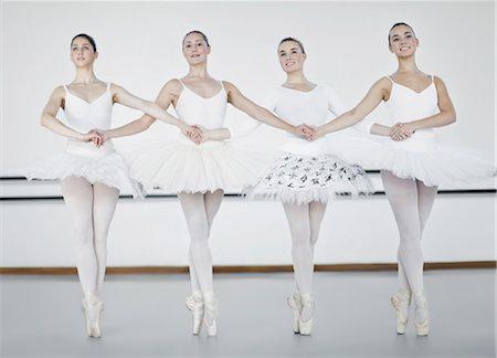 elegant - Ballet dancers holding hands in studio Stock Photo - Premium Royalty-Free, Code: 649-04247982