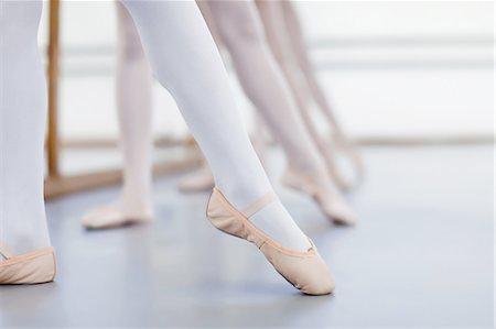 preteen dancing - Close up of ballet dancers' feet Stock Photo - Premium Royalty-Free, Code: 649-04248023