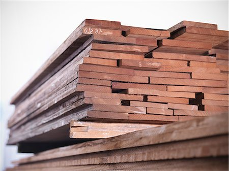 Close up of planks of wood in joinery Stock Photo - Premium Royalty-Free, Code: 649-04248832