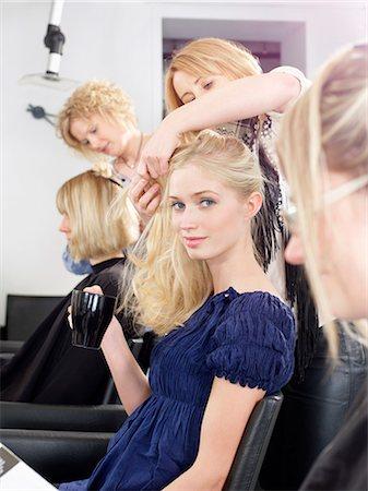 Woman having hair cut in salon Stock Photo - Premium Royalty-Free, Code: 649-04249170