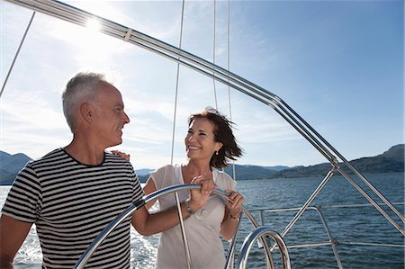 Older couple sailing together Stock Photo - Premium Royalty-Free, Code: 649-05520984