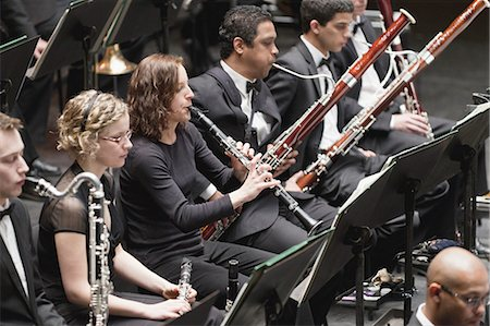 Winds section in orchestra Stock Photo - Premium Royalty-Free, Code: 649-05555718