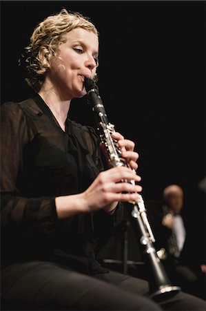 Clarinet player in orchestra Stock Photo - Premium Royalty-Free, Code: 649-05555728