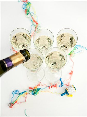Glasses of champagne at party Stock Photo - Premium Royalty-Free, Code: 649-05648747