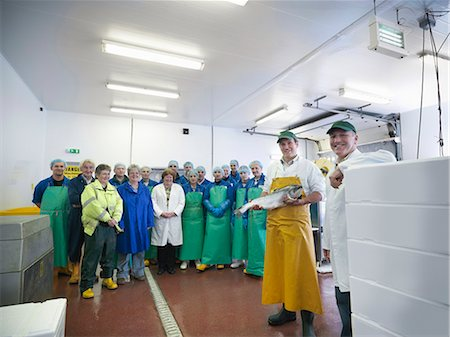 Workers in fish processing plant Stock Photo - Premium Royalty-Free, Code: 649-05649454
