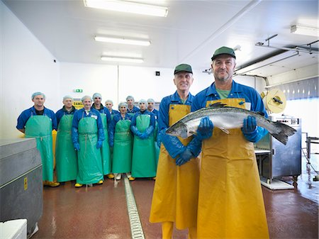 Workers in fish processing plant Stock Photo - Premium Royalty-Free, Code: 649-05649456