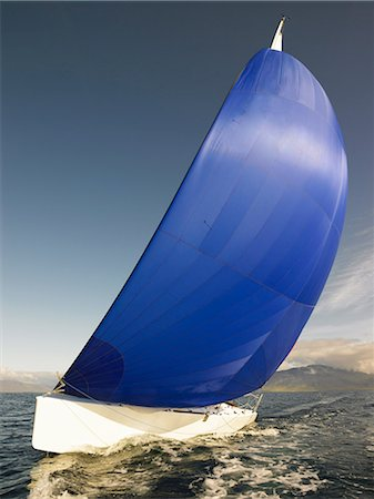 sailboat  ocean - Sailboat tipping in wind Stock Photo - Premium Royalty-Free, Code: 649-05649767