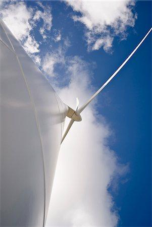 Low angle view of wind turbine Stock Photo - Premium Royalty-Free, Code: 649-05656815