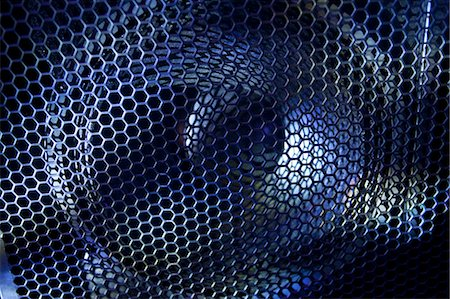 Close up of waffle over stereo speaker Stock Photo - Premium Royalty-Free, Code: 649-05657933