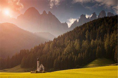 Saint Johann Church, Val di Funes, Ranui, South Tyrol, Dolomites, Italy Stock Photo - Premium Royalty-Free, Code: 649-05802330