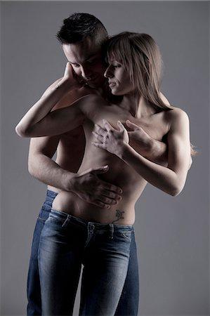 Nude couple hugging Stock Photo - Premium Royalty-Free, Code: 649-05821554
