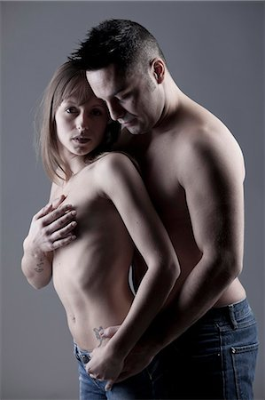 Nude couple hugging Stock Photo - Premium Royalty-Free, Code: 649-05821555