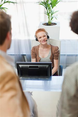 secretary desk - Business people talking in office Stock Photo - Premium Royalty-Free, Code: 649-06000941
