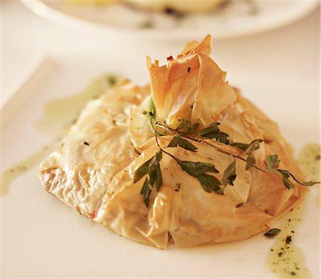 santorini - Close up of plate of Greek food Stock Photo - Premium Royalty-Free, Code: 649-06001702