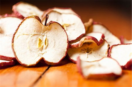 dry - Close up of dried apple slices Stock Photo - Premium Royalty-Free, Code: 649-06001817