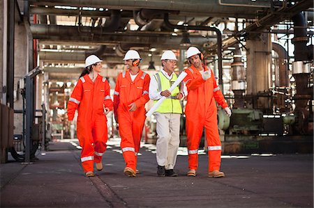 refinery - Workers walking at oil refinery Stock Photo - Premium Royalty-Free, Code: 649-06040394