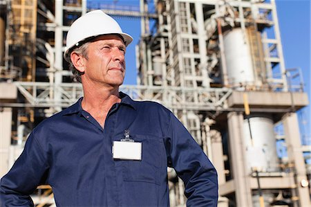 refinery - Worker standing at oil refinery Stock Photo - Premium Royalty-Free, Code: 649-06040411