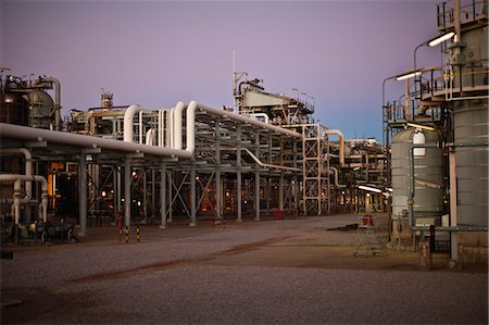refinery - Infrastructure of oil refinery Stock Photo - Premium Royalty-Free, Code: 649-06040440