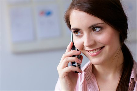 ebusiness - Businesswoman talking on cell phone Stock Photo - Premium Royalty-Free, Code: 649-06041170