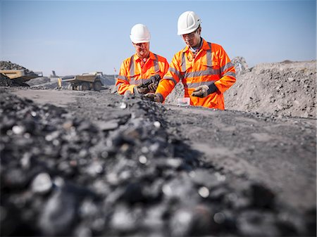 people working coal mines - Workers inspecting coal at mine Stock Photo - Premium Royalty-Free, Code: 649-06041507