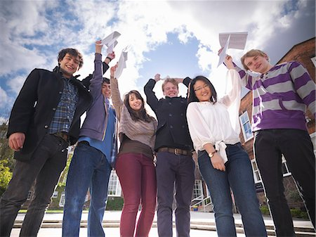 results - Students with grades cheering at school Stock Photo - Premium Royalty-Free, Code: 649-06041612