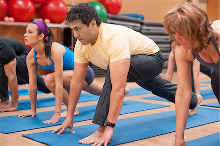 fitness older women gym - People practicing yoga in studio Stock Photo - Premium Royalty-Free, Code: 649-06042046