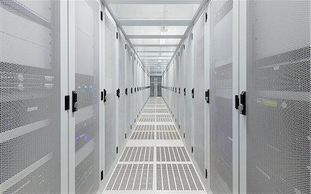 Hallway in server room Stock Photo - Premium Royalty-Free, Code: 649-06113269