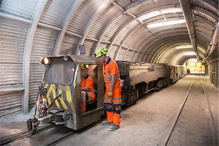 Operators working in coal mine Stock Photo - Premium Royalty-Free, Code: 649-06164910