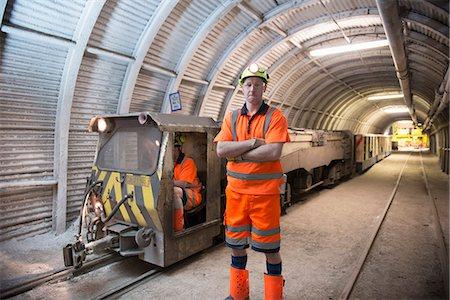 Operators working in coal mine Stock Photo - Premium Royalty-Free, Code: 649-06164911