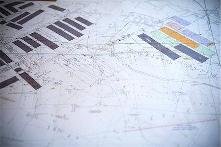 Close up of coal mine blueprints Stock Photo - Premium Royalty-Free, Code: 649-06164924