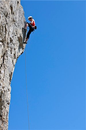 rock climber - Climber scaling steep cliff face Stock Photo - Premium Royalty-Free, Code: 649-06306009
