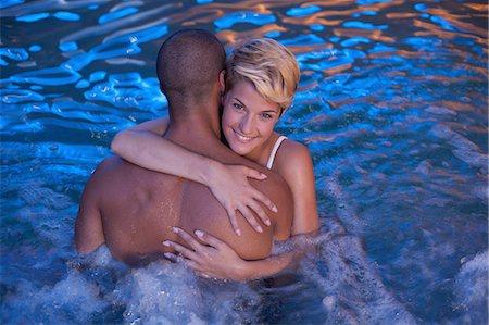 shirtless men - Couple relaxing in indoor jacuzzi Stock Photo - Premium Royalty-Free, Code: 649-06352503