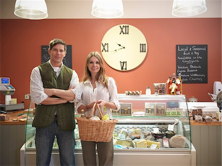 Couple shopping in grocery store Stock Photo - Premium Royalty-Free, Code: 649-06353038