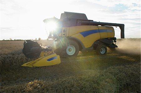 Harvester working in crop field Stock Photo - Premium Royalty-Free, Code: 649-06400718