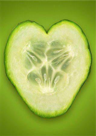 Close up of cucumber slice Stock Photo - Premium Royalty-Free, Code: 649-06400888