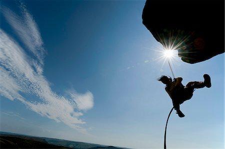 rock climber - Rock climber scaling rock formation Stock Photo - Premium Royalty-Free, Code: 649-06401326