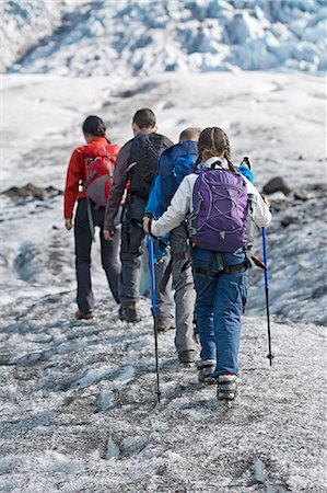 Family walking on glacier Stock Photo - Premium Royalty-Free, Code: 649-06401328