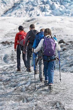 preteen girl - Family walking on glacier Stock Photo - Premium Royalty-Free, Code: 649-06401328