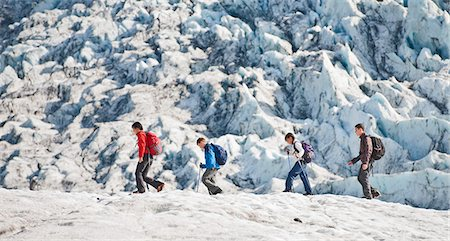 Family walking on glacier Stock Photo - Premium Royalty-Free, Code: 649-06401332