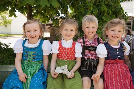 Children in traditional Bavarian clothes Stock Photo - Premium Royalty-Free, Code: 649-06432735