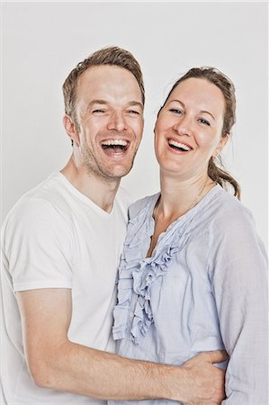 Smiling couple laughing Stock Photo - Premium Royalty-Free, Code: 649-06432767