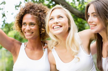 friend (female) - Smiling women standing together Stock Photo - Premium Royalty-Free, Code: 649-06432905