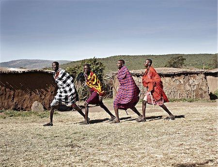 Maasai men walking together Stock Photo - Premium Royalty-Free, Code: 649-06433215