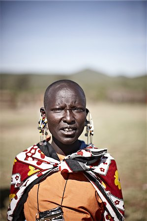 Maasai woman standing outdoors Stock Photo - Premium Royalty-Free, Code: 649-06433216