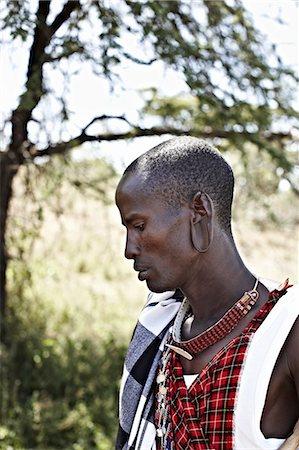 Maasai man standing outdoors Stock Photo - Premium Royalty-Free, Code: 649-06433213