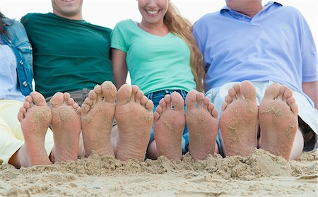 female feet close up - Close up of sandy feet on beach Stock Photo - Premium Royalty-Free, Code: 649-06433514