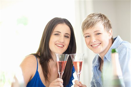 Women having champagne together Stock Photo - Premium Royalty-Free, Code: 649-06488412