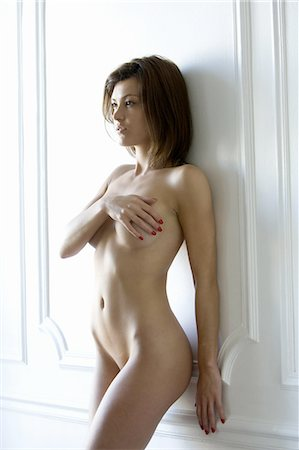 female nude breast sexy - Nude woman covering breasts Stock Photo - Premium Royalty-Free, Code: 649-06488617